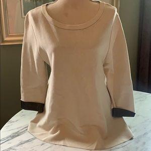Nic & Zoe Boatneck Sweater 3/4 Sleeve